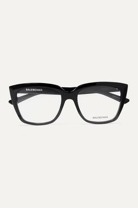Balenciaga Tip Oversized Cat-eye Acetate Optical Glasses