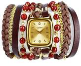 Winky Designs Red Carnelian Wrap Watch