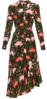 Erdem Rhea Carnation-print silk-crepe shirtdress