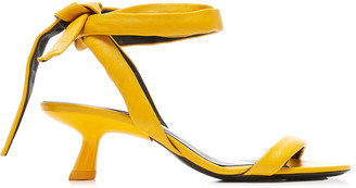 Simon Miller Eel Ankle-Tie Leather Sandals