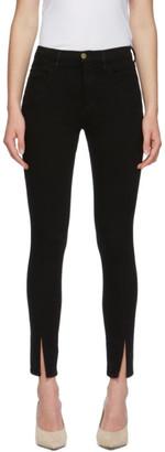 Frame Black Le High Skinny Slit Jeans