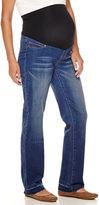 Asstd National Brand Maternity Raw Edge Overbelly Wide-Leg Pants