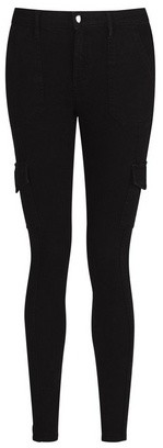Dorothy Perkins Womens Black Zip Utility 'Darcy' Jeans, Black