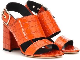 Dries Van Noten Embossed leather sandals