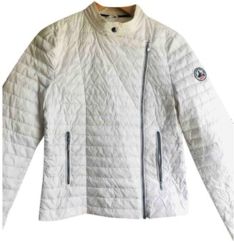 JOTT White Leather Jacket for Women