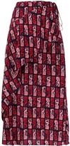 Kenzo mermaid print wrap skirt