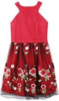 Speechless Girls 7-16 Embroidered Applique Rose Skirt Dress