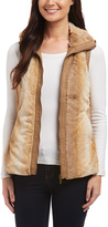 Camel Faux Fur Vest - Plus Too
