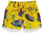 Vilebrequin Jim Moon Fish Multi-Print Swim Trunks, Boys' 2-8