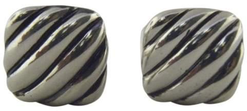 David Yurman 925 Sterling Silver Cable Cushion Cufflinks