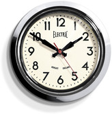 Newgate Clocks - Small Electric Clock - Chrome