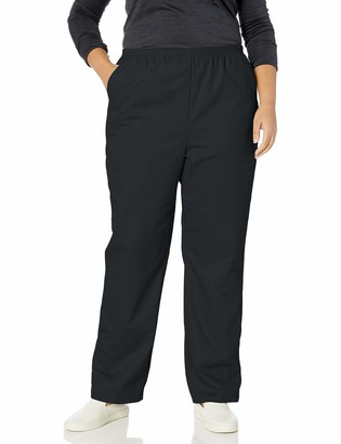 Chic Classic Collection Women's Petite Plus Stretch Elastic Waist Pull-on Pant