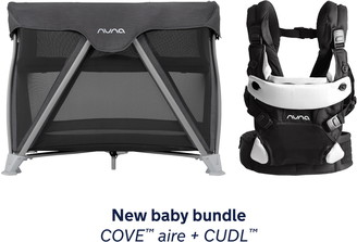 Nuna COVE Aire Travel Crib & CUDL Baby Carrier Set