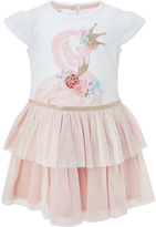 Monsoon Baby Frill Flamingo 2 In 1 Dress