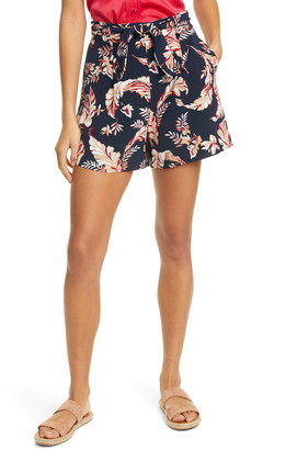 Joie Varsha Floral Tie Front Shorts