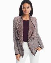 White House Black Market Double Fringe Sweater Jacket