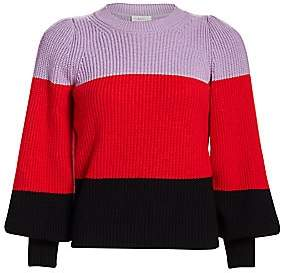 A.L.C. Women's Colorblock Puff-Sleeve Sweater