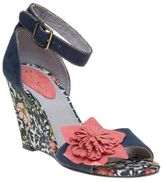 Ruby Shoo New Womens Blue Sky Synthetic Sandals Floral Buckle