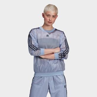 adidas Women's Mesh Crew Sweatshirt