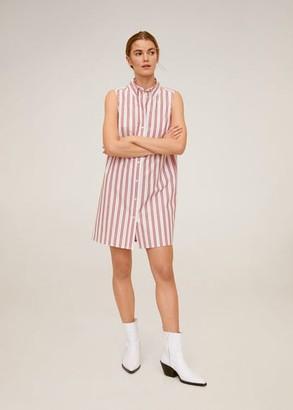MANGO Cotton shirt dress navy - 2 - Women