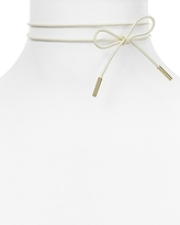 BaubleBar Blanche Leather Bow Choker Necklace, 13