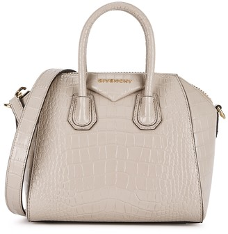 Givenchy Antigona mini crocodile-effect leather top handle bag