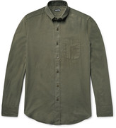 Tom Ford - Slim-fit Button-down Collar Cotton And Cashmere-blend Twill Shirt