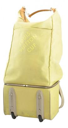 Louis Vuitton Yellow Cloth Travel bags