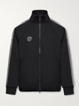 MONCLER GENIUS 7 Moncler Fragment Logo-Appliqued Webbing-Trimmed Jersey Track Jacket - Men - Black