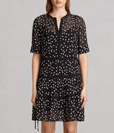 AllSaints Picolina Embroidered Tier Dress