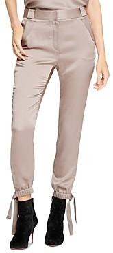 Halston Satin Tie Detail Pants