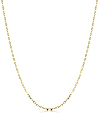 Fremada 14k Yellow Gold 1.3 millimeter Cable Chain Necklace