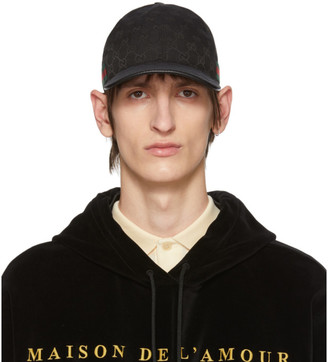 Gucci Black Original GG Baseball Cap