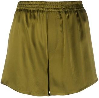 Haider Ackermann Silk Track Shorts