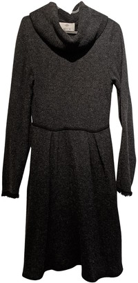 Allude Anthracite Cashmere Dress for Women