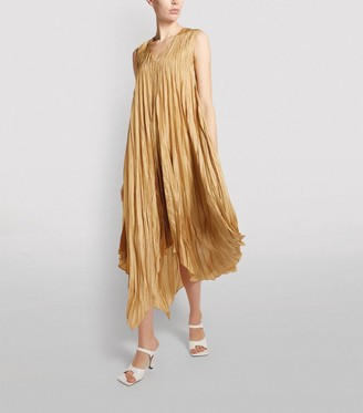 Joseph Checker Silk Habotai Dress