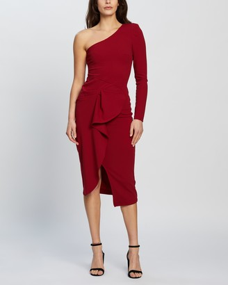 Mossman - Women's Red Midi Dresses - Now & Forever Dress - Size 6 at The Iconic