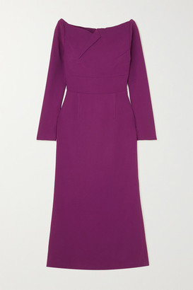 Roland Mouret Romolo Stretch-crepe Midi Dress - Purple