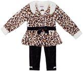 Little Lass Baby Girl Jacket, Tee & Leggings Set