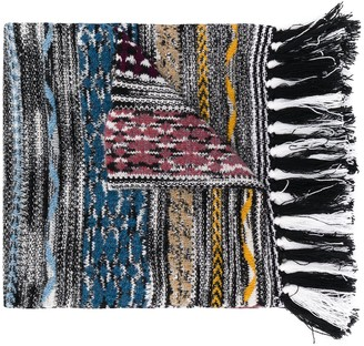 Missoni Knitted Fringed Cashmere Scarf
