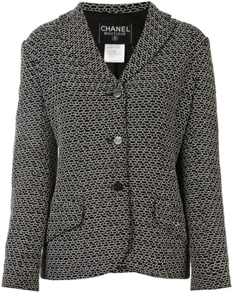 Chanel Pre Owned 1998s CC long sleeve single-breasted jacket