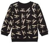 Boy London Black and Gold Repeat Logo Sweatshirt