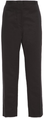 Marni Cropped Cotton And Linen-blend Gabardine Tapered Pants
