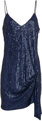 Caroline Constas Koren Draped Sequin Mini Dress