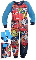 Disney Kids Fleece Jumpsuit / Sleepsuit with Cozy Socks | in Box Pack