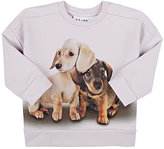Molo Kids French Terry Photo-Real Dog Sweatshirt