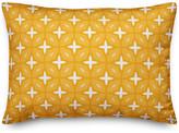Designs Direct Creative Group Yellow Lattice 14x20 Lumbar Pillow
