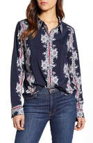 Tommy Hilfiger Floral Calligraphy Stripe Long Sleeve Shirt