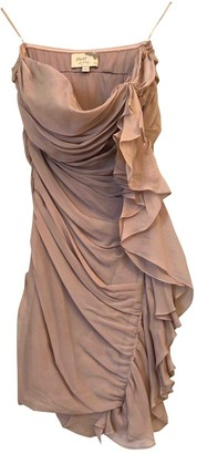 Elizabeth and James Pink Silk Dresses