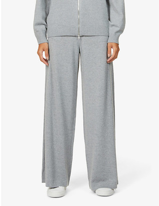 Johnstons Marla relaxed wide-leg mid-rise wool jogging bottoms